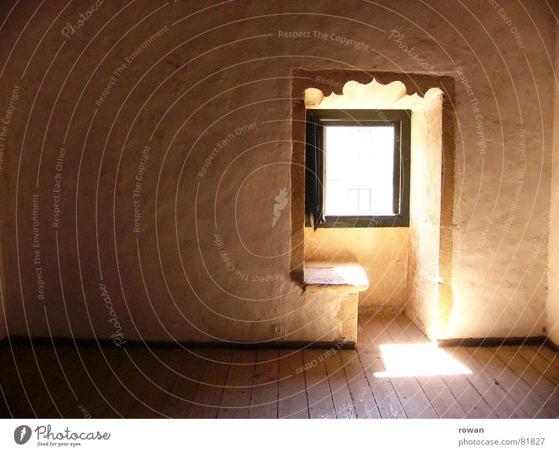silentium Opening Dim Ornate Border Monk`s cell Calm Loneliness Window Light Hope Sunlight Mysterious Wood Ancient Wooden floor Interior shot Small room Room