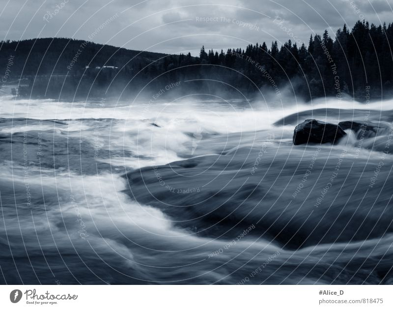 Nature Vacation & Travel Blue White Water Landscape Black Rock Waves Tourism Hiking Elements Adventure River Silver Waterfall