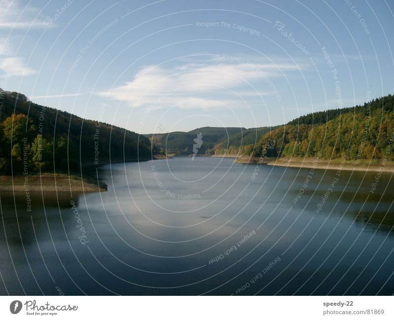 Nature Water Sky Clouds Lake Landscape Lakeside Rhineland-Palatinate Reservoir Eifel