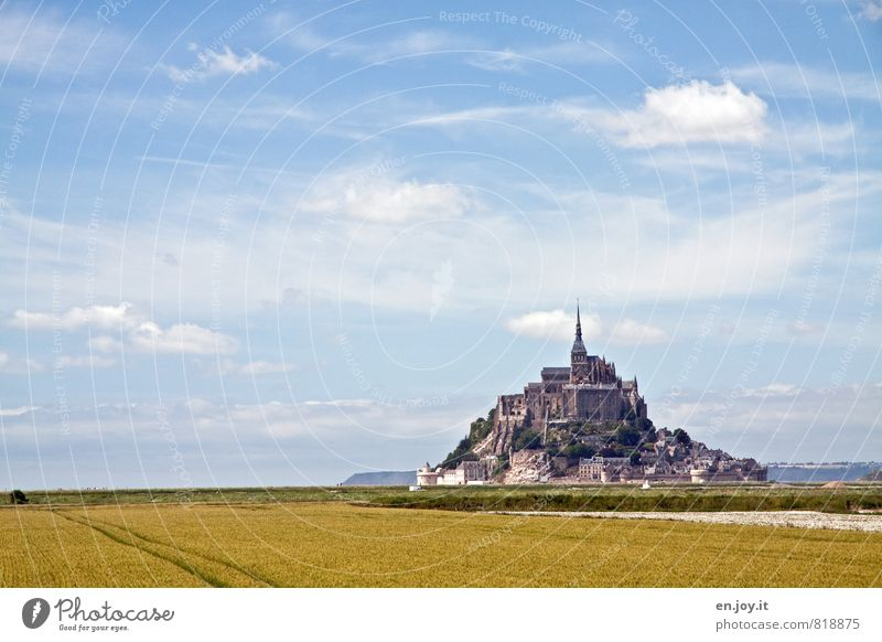 overview Vacation & Travel Tourism Island Sky Clouds Horizon Field Hill Mountain Mont St.Michel Village Church Castle Tower Manmade structures Exceptional