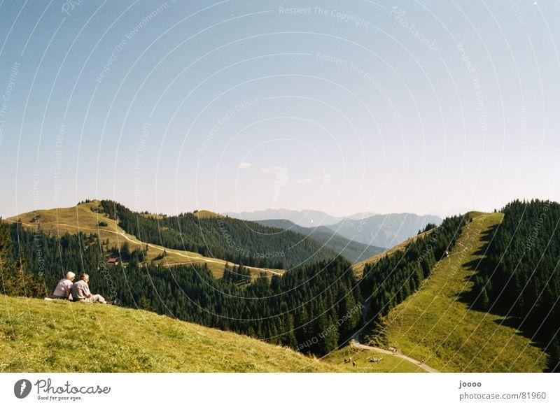 mountain view Hiking Break Summer Mountain hörnle Alps Nature