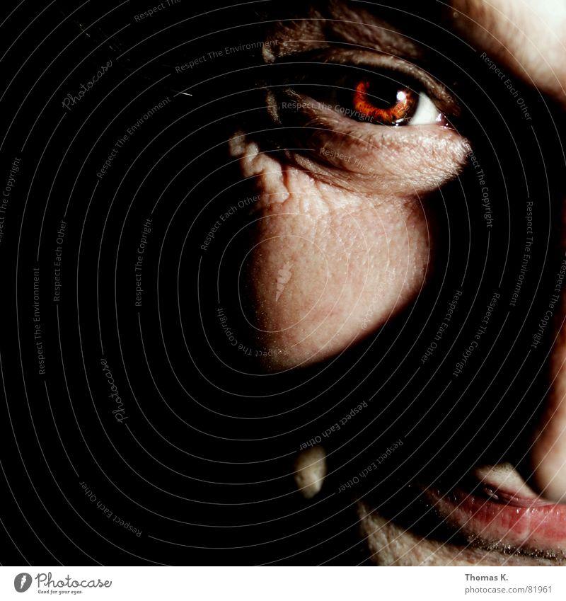 Man Black Face Dark Head Exceptional Nose Broken Threat Whimsical Evil Strange Earnest Completed Skin color Ferocious