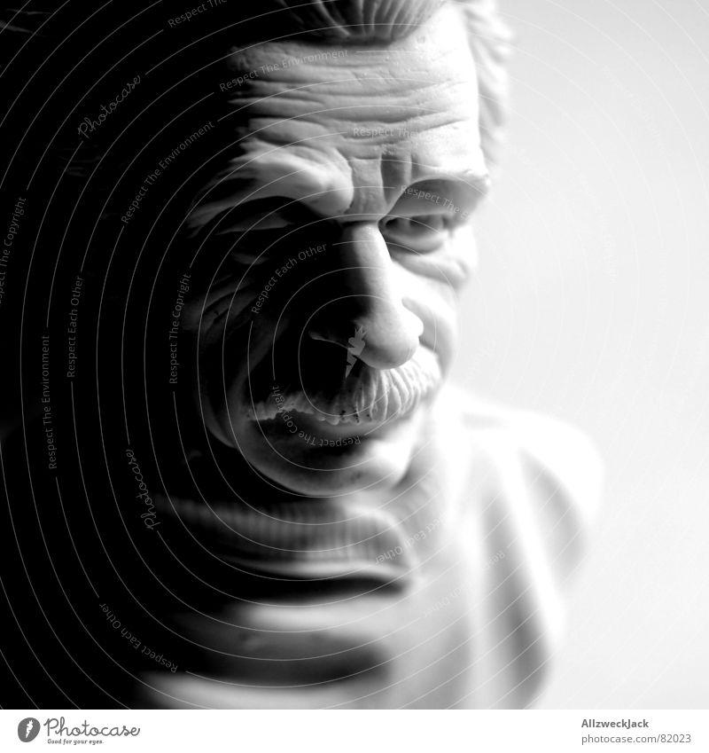 Albertissimo Scientist Physicist Atomic bomb Bust Portrait photograph Black Clever Moustache Brilliant Shadow Statue Competent Sculpture Spirited Smart Brillant