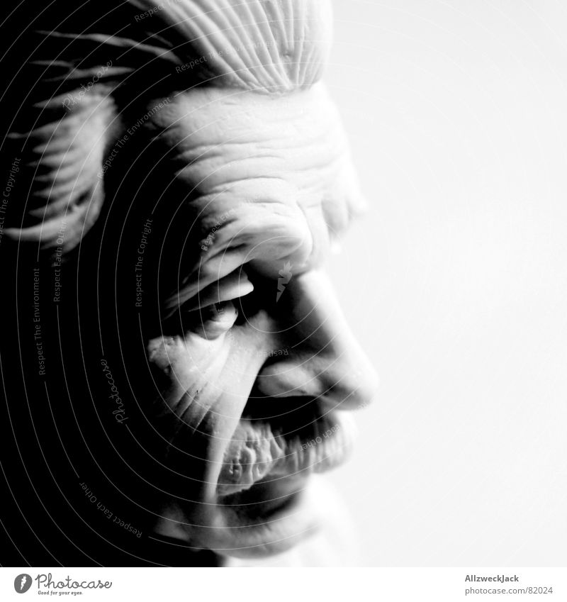 Human being Man Old Black Statue Diamond Sculpture Know Smart Moustache Torn Clever Brilliant Scientist Competent Bomb