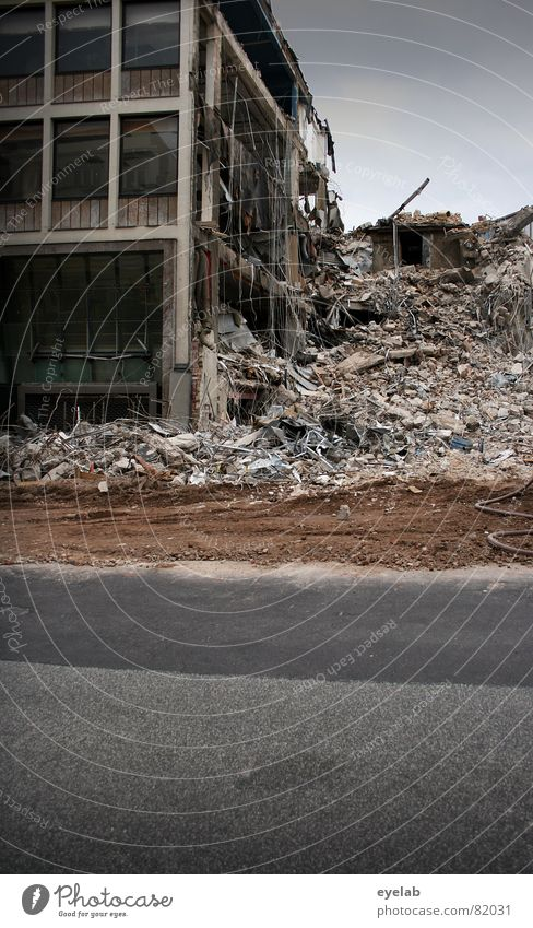 Stone lice alarm ! Emergency Renewal Renewable Building rubble Trash Tumbledown Construction site Dismantling Asphalt Steel War Go under Decline Transform