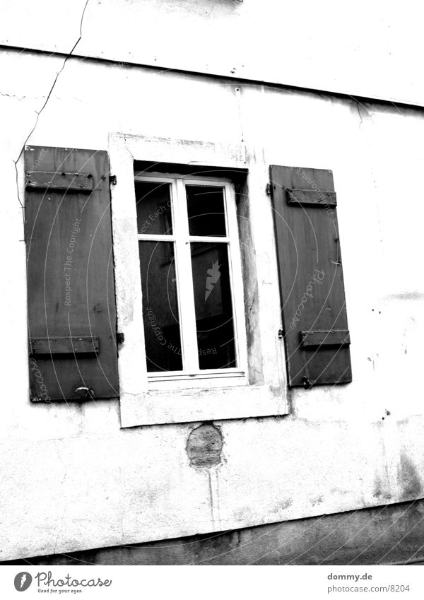 Old White Black Window Dirty Architecture Small Shabby