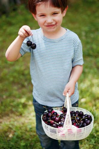 Human being Child Summer Girl Emotions Boy (child) Eating Healthy Garden Moody Food Dirty Fruit Contentment Infancy Fresh