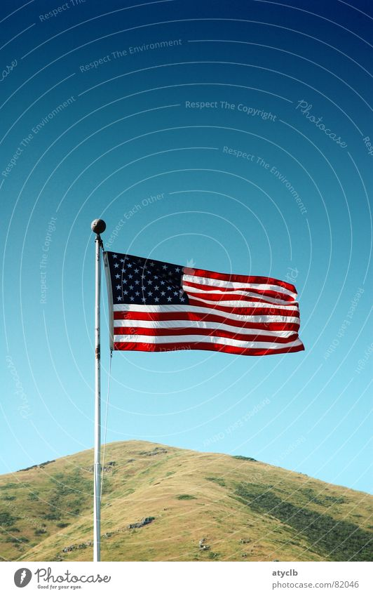 Sky Green Stripe USA Flag Hill Americas American Flag California Firmament San Francisco