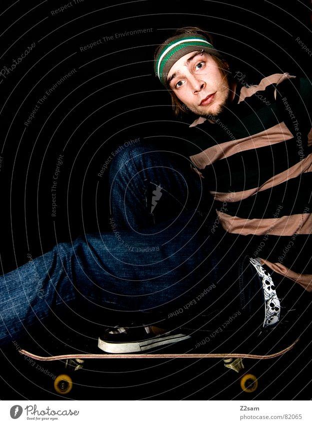 Man Style Feet Contentment Footwear Modern Stripe Jeans Skateboarding Coil Belt Parking level Headband