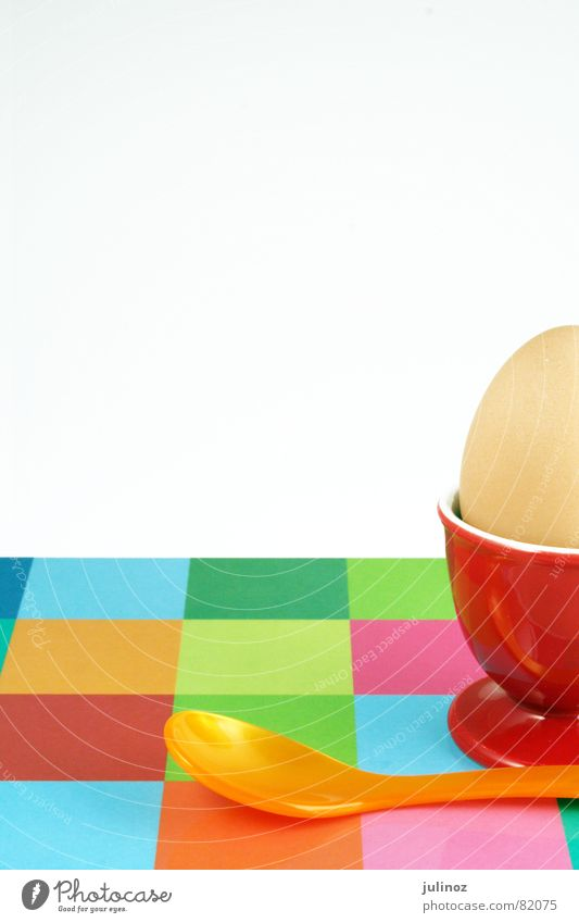 breakfast egg Red Easter Chopping board Breakfast Egg cup Spoon Multicoloured Nutrition Kitchen