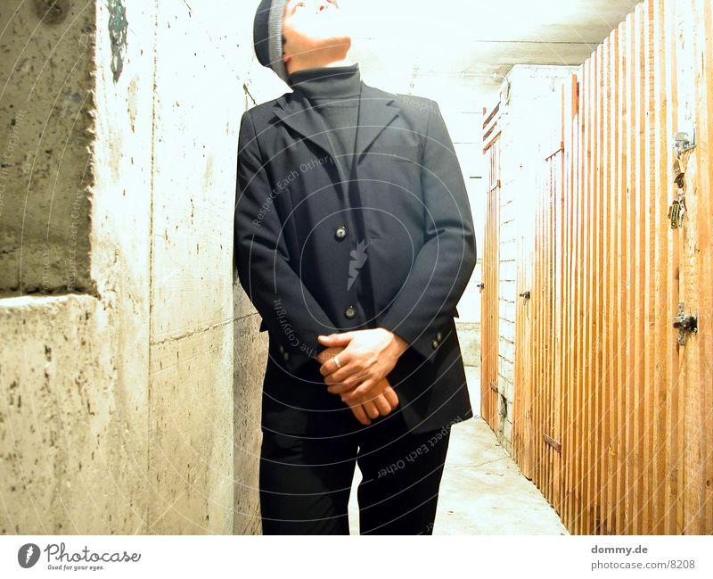 go into the light Man Suit Light Cellar Dark Overexposure Long exposure Thomas