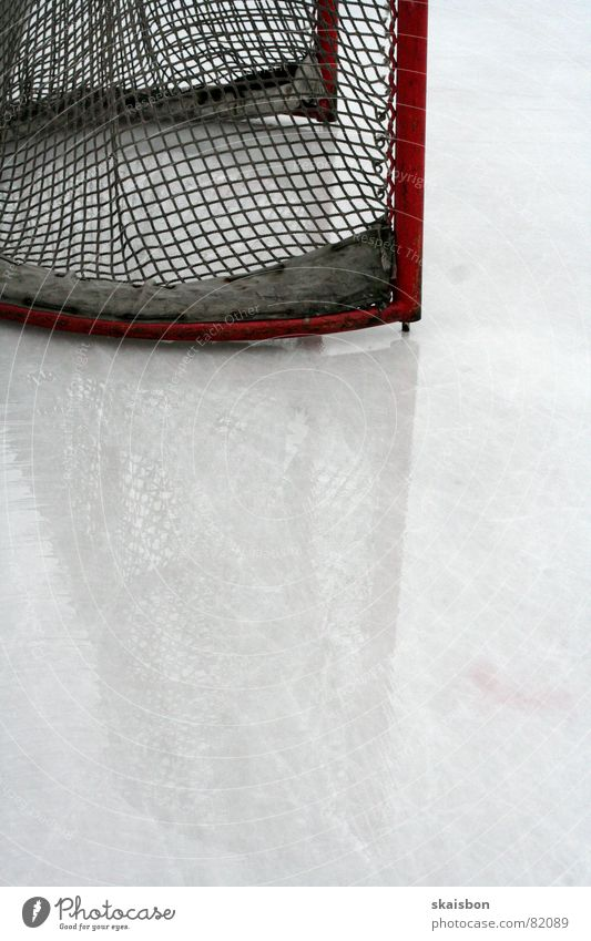 Calm before the storm Leisure and hobbies Playing Sports Sporting event 2 Human being Ice Frost Gate Net Fresh Cold Competition Credit Ice hockey Invitation
