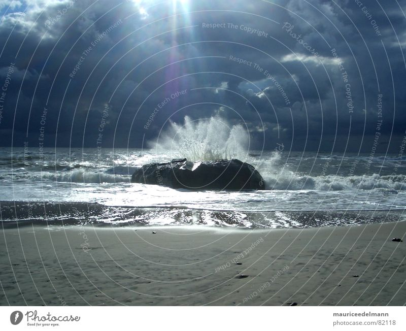 Water Sun Ocean Blue Beach Black Clouds Dark Autumn Sand Rain Horizon Europe Storm Surf High tide