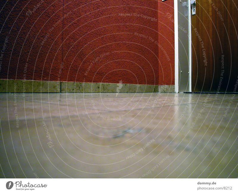 hallway Hallway Red Wall (building) Long exposure Door