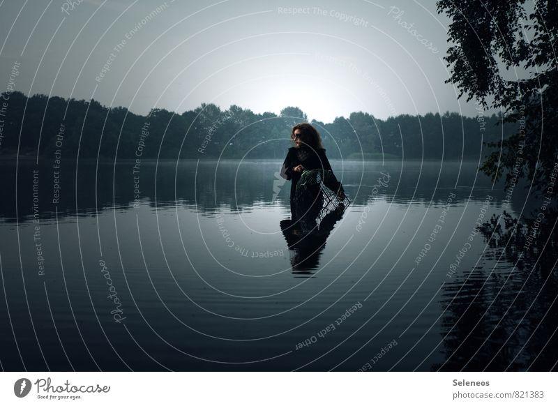 Human being Woman Nature Water Landscape Loneliness Adults Environment Sadness Natural Coast Feminine Lake Wet Romance River