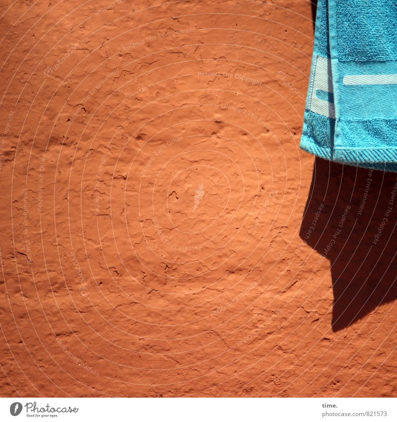 Mistress is swimming Swimming & Bathing Summer Beach Terry cloth Wall (barrier) Wall (building) Facade Textiles Towel Bath towel Surface Surface structure Stone