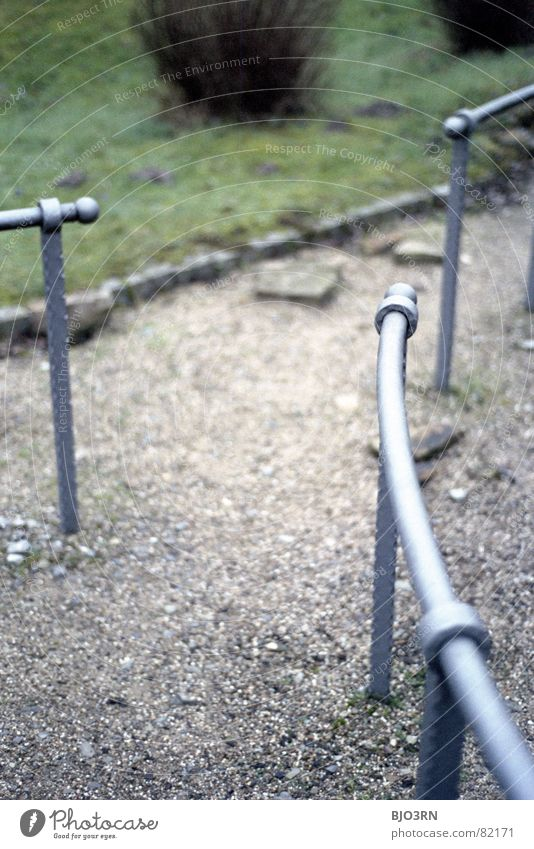 Green Colour Lanes & trails Stone Metal 3 Safety Bushes Gloomy Lawn Handrail Analog Vertical Gravel Rod Practice