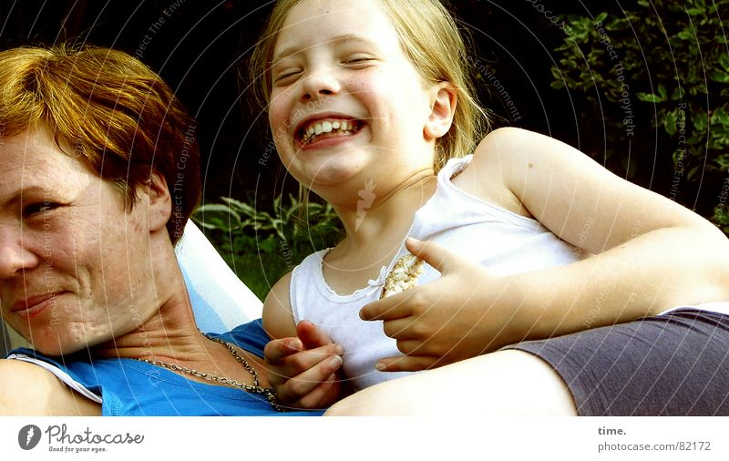 Human being Woman Blue Summer Girl Joy Adults Life Emotions Feminine Happy Laughter Garden Friendship Together Idyll