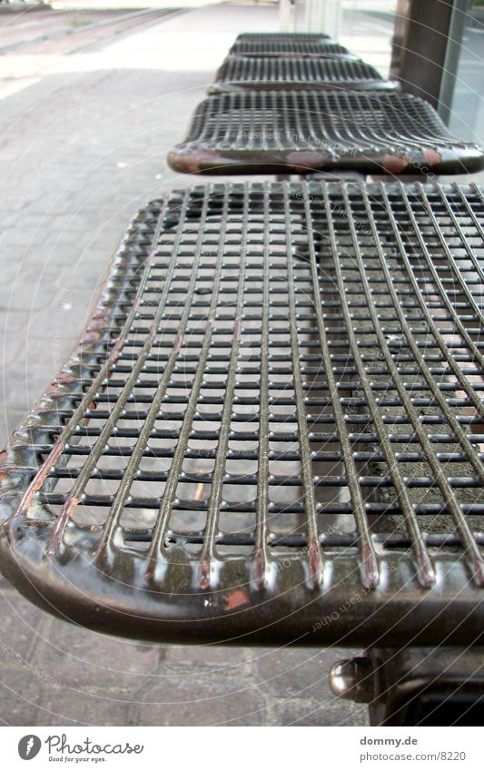 Metal Wait Architecture Bench Station Seating Tram