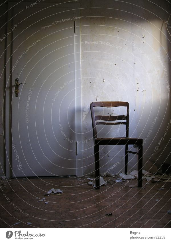 Going Door Concrete Empty Chair Moving (to change residence) Redecorate Repair Redevelop Resettle