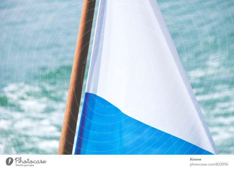 """da bin i dahoam"" Vacation & Travel Tourism Trip Summer Summer vacation Aquatics Sailing Lake Lake Chiemsee Bavaria Upper Bavaria Navigation Inland navigation"