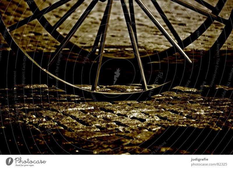 TWO-WHEELER Horse-drawn carriage Marketplace Places Historic Carriage Wheels Cobblestones Country road Alley Spokes Village Small Town Ancient Pavement