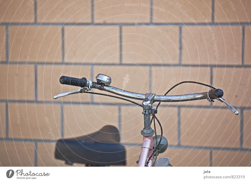 bicycle Building Wall (barrier) Wall (building) Facade Bicycle Handlebars Bicycle saddle Esthetic Colour photo Exterior shot Deserted Copy Space top Day