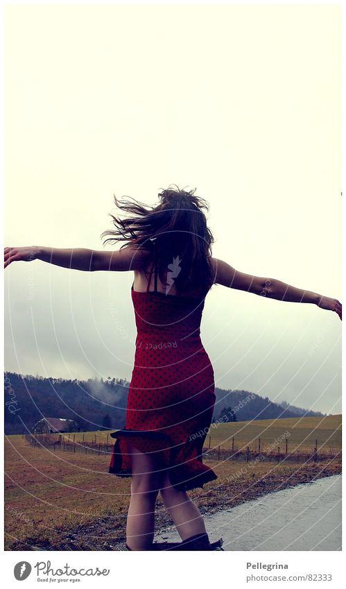 Woman Joy Freedom Dance Dress Rotate
