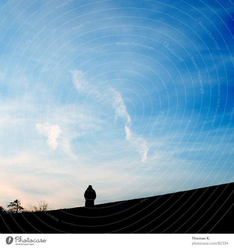 Human being Sky Clouds Autumn Going Horizon Transience Goodbye Reunion