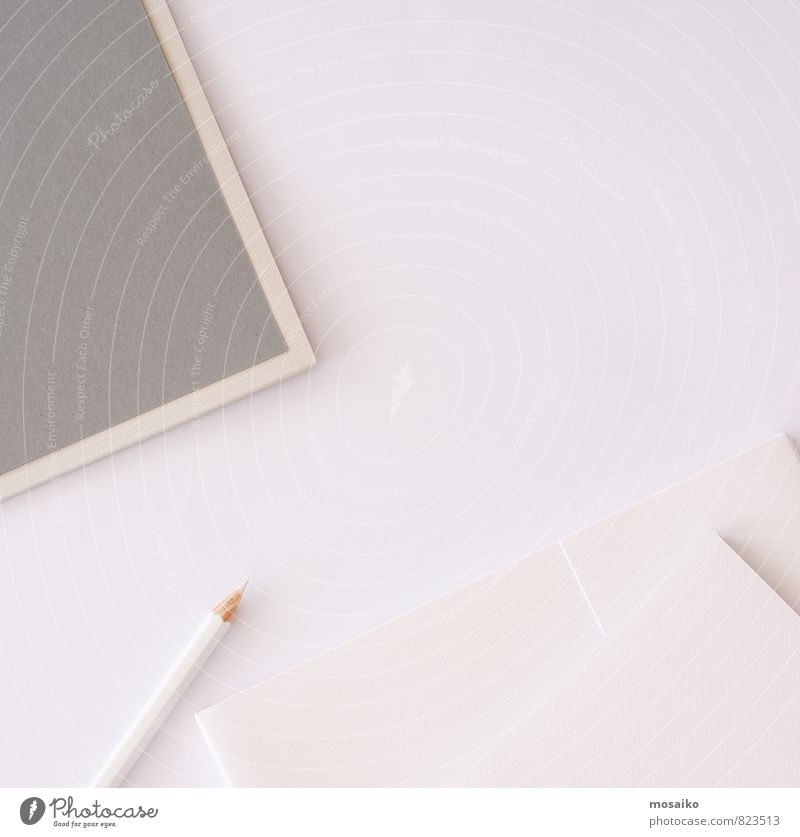 white pencil on bright background Beautiful White Gray Art Work and employment Business Lifestyle Office Design Modern Table Creativity Paper Idea Shopping