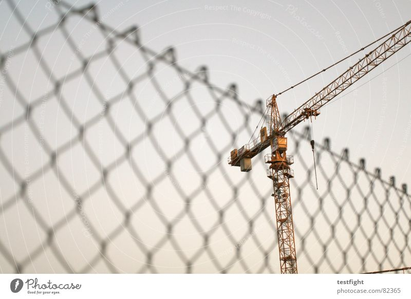 Sky Building Industry Fence Build Crane Construction crane Wire netting