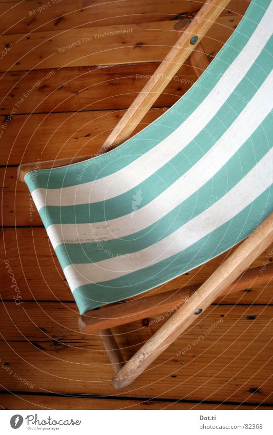 White Vacation & Travel Relaxation Wood Empty Chair Stripe Furniture Sunbathing Striped Deckchair Wooden floor Goof off Light blue Opened