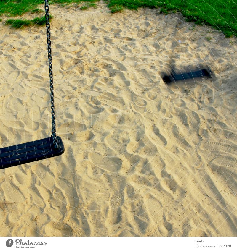 disappeared Without trace Peat Swing Playground Romp Lose Green space Beige Knoll Theft Fear Panic Joy loss deprivation Doomed Sand Lawn Tracks turf brat