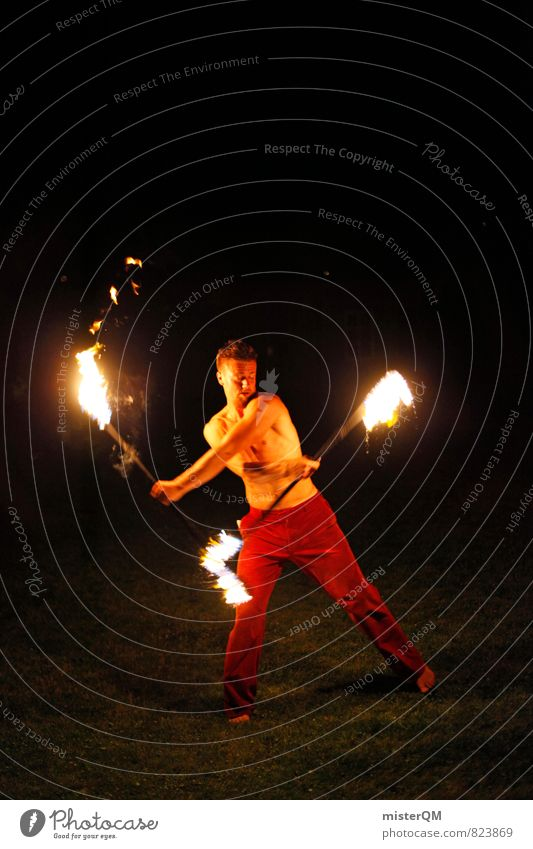 Ice and Fire II Art Esthetic Burn Torch Juggle Man Upper body Work of art Talented Political movements Dynamics Hot Medieval times Fiery Fairs & Carnivals