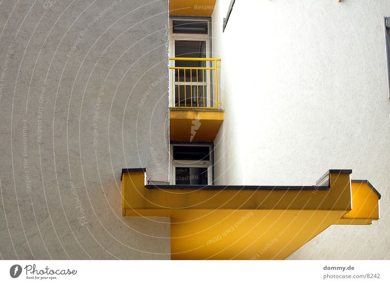 yellow Yellow Building Balcony Roof Entrance Flashy Architecture unusual