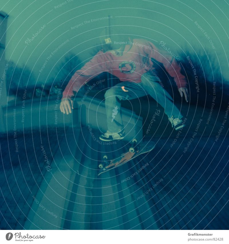 Backside Kickflip Skateboarding Moody Flair Ambient Strange Extreme sports backside Bluish stagger Stairs