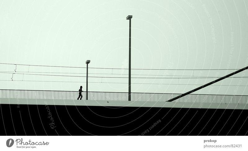 Loneliness Black Lamp Line Arm Walking Transport Success Bridge Gloomy Lawn Fatigue Sneakers Sporting event Geometry Easygoing
