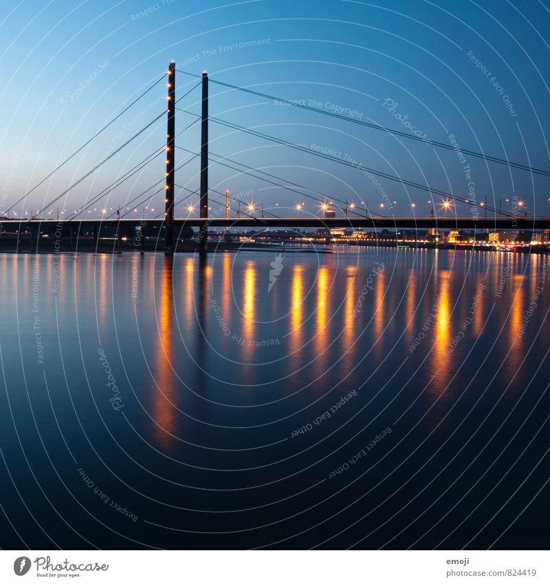 Sky Blue City Energy Bridge River Skyline Tourist Attraction Duesseldorf