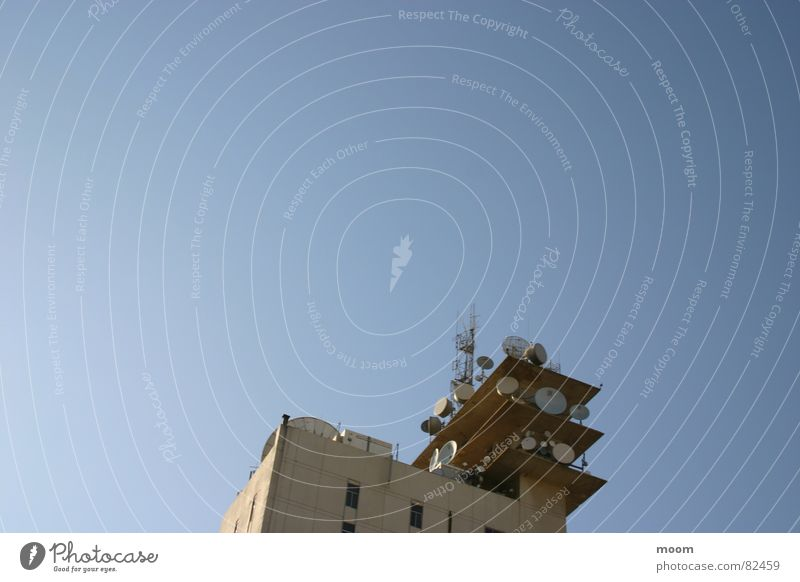 CTRL Sky Beirut Architecture control satelite building low angle blue
