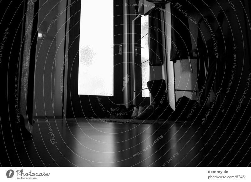 mirroring Long exposure Hallway Black Light Reflection Black & white photo wise