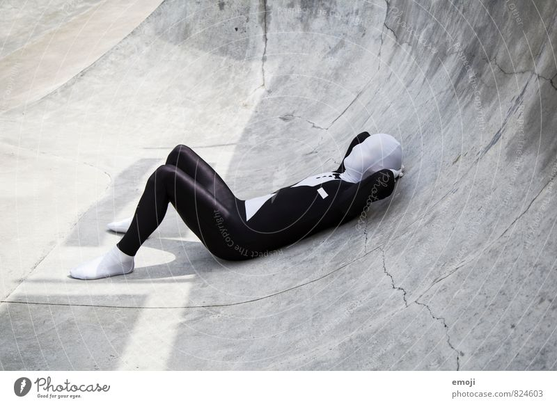 Human being Youth (Young adults) White 18 - 30 years Young man Black Adults Gray Exceptional Lie Masculine Suit Anonymous Costume Androgynous