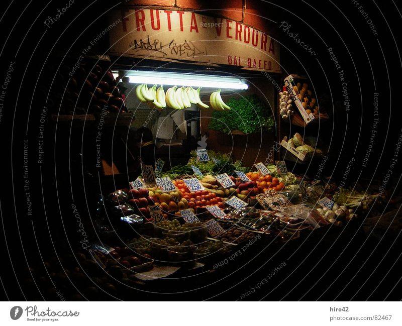 Bologna Market Italy Dark Sell Vacation & Travel Fruit Vegetable Evening