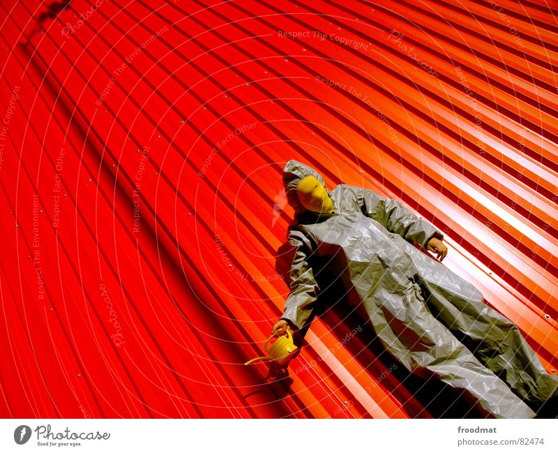 Red Joy Yellow Lamp Wall (building) Gray Art Funny Crazy Lawn Mask Suit Lantern Stupid Diagonal Surrealism