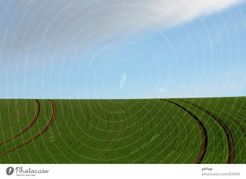 Sky Green Blue Calm Far-off places Spring Lanes & trails Landscape Field Horizon Infinity Agriculture Curve Cyan Bend