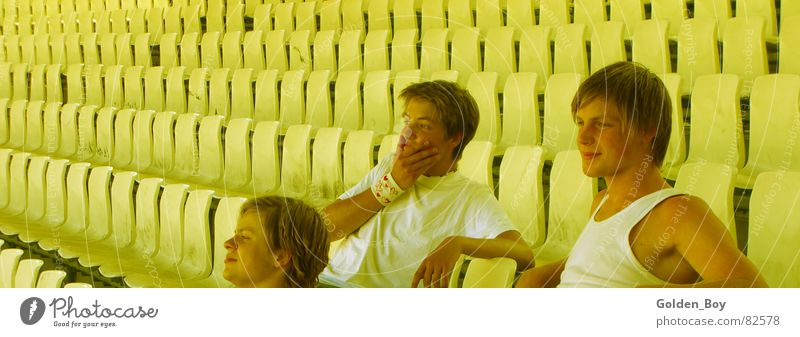 Alone in the stadium Human being Playing Stadium Stay Sports Seating Electricity Multiple Joy
