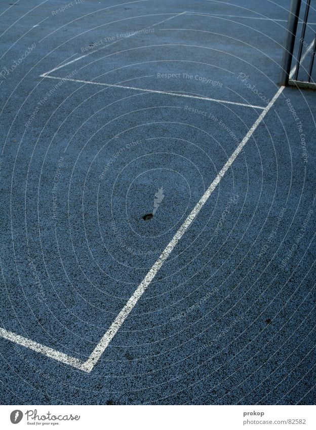 Blue Sports Playing Gray Line Places Success Crazy Stripe Corner Gate Playing field Diagonal Geometry Pole