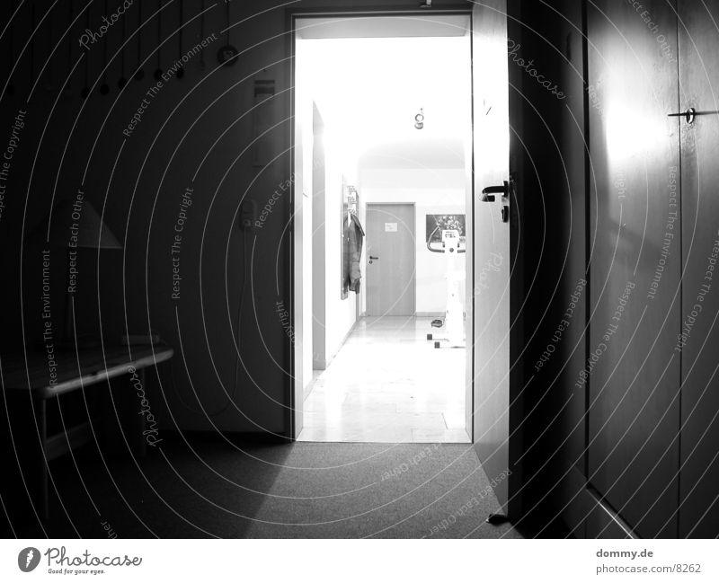 Go into the light! Long exposure Room Hallway Light Black Black & white photo wise