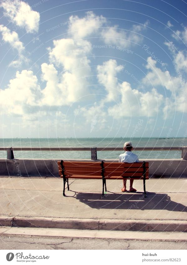 Sky Nature Vacation & Travel Ocean Loneliness Street Freedom Sadness Line Friendship Sit Wait Large Empty Search Bridge