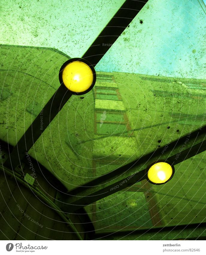 House (Residential Structure) Lamp Dirty Perspective Roof Transience Clean Derelict Entrance Electric bulb Prop Tidy up Canopy Glass roof Illuminant