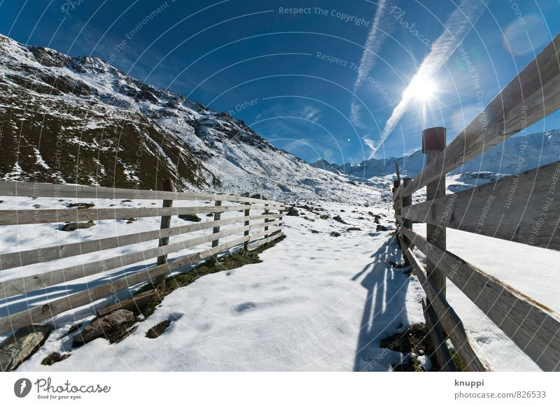 line management Environment Nature Landscape Earth Sky Cloudless sky Sun Sunlight Winter Climate Climate change Weather Beautiful weather Ice Frost Snow Rock